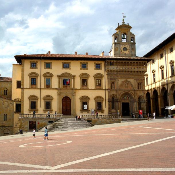 La piazza di Arezzo