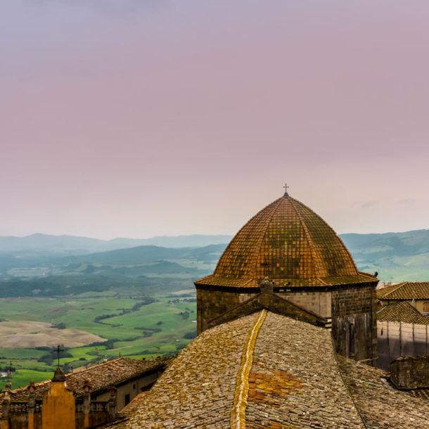 veduta panoramica di Volterra